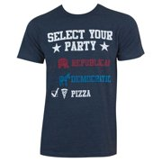 Political Pick Your Party Navy Blue Men's Tee Shirt