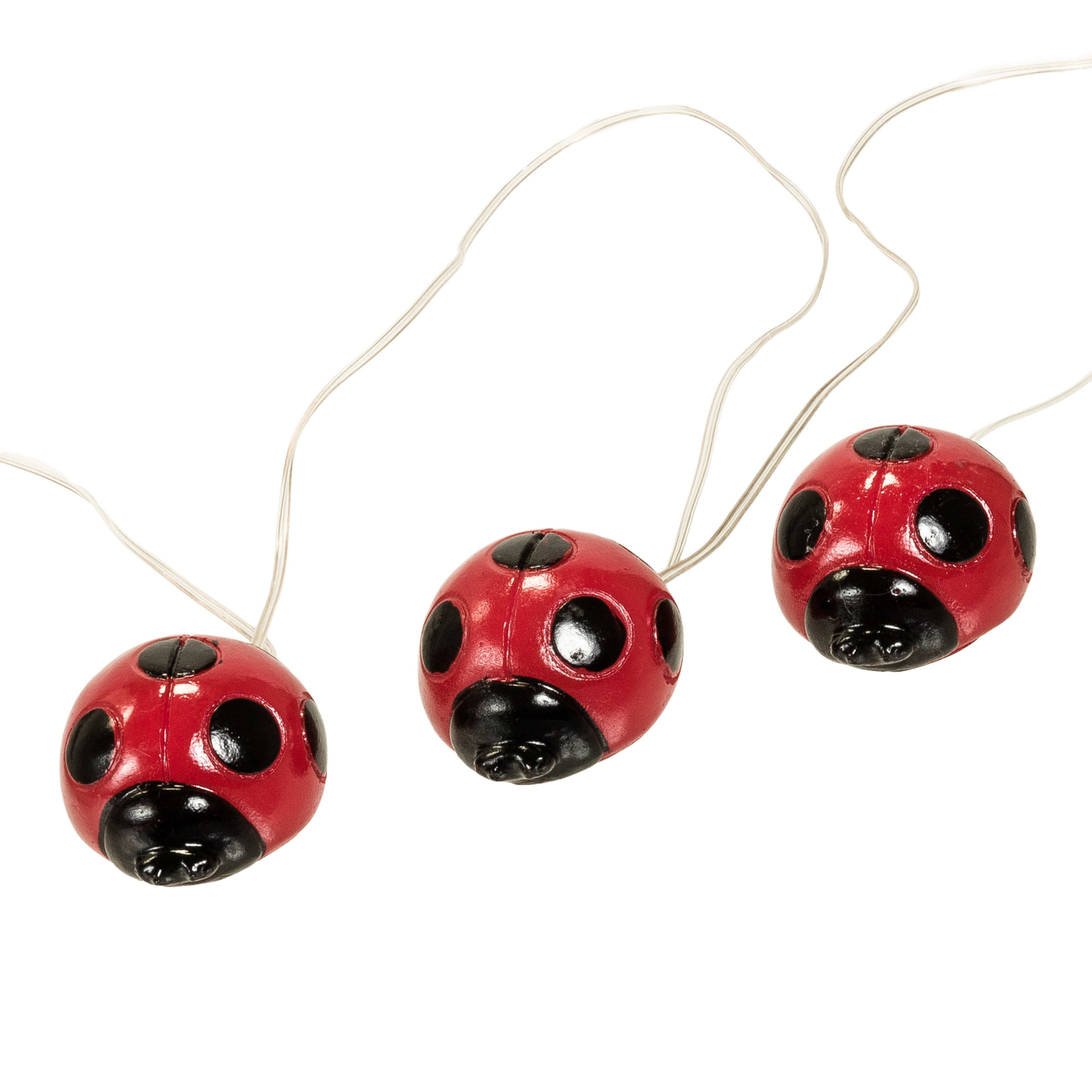 2 Pack Solar Powered Decorative Outdoor Garden LED Lady Bug LED String  Lights