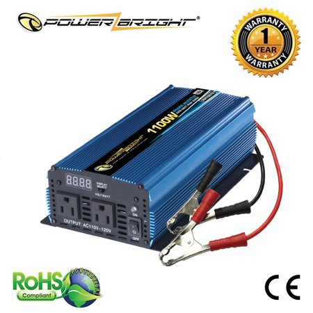 PowerBright PW1100-12 12-Volt Modified Sine Wave Inverter (1,100 Watts)