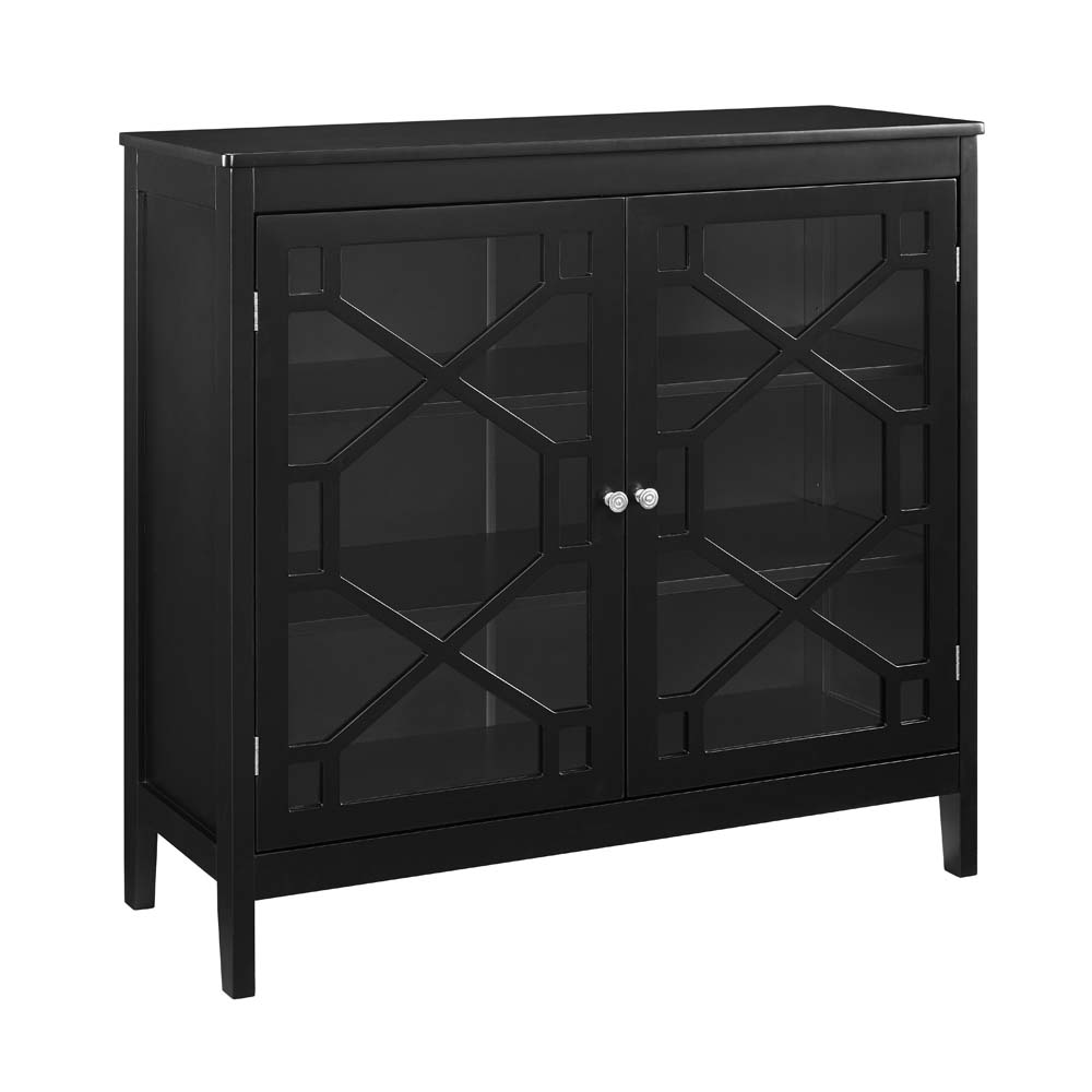 Linon Felicia Large Cabinet, 3 Interior Shelves, Multiple Colors