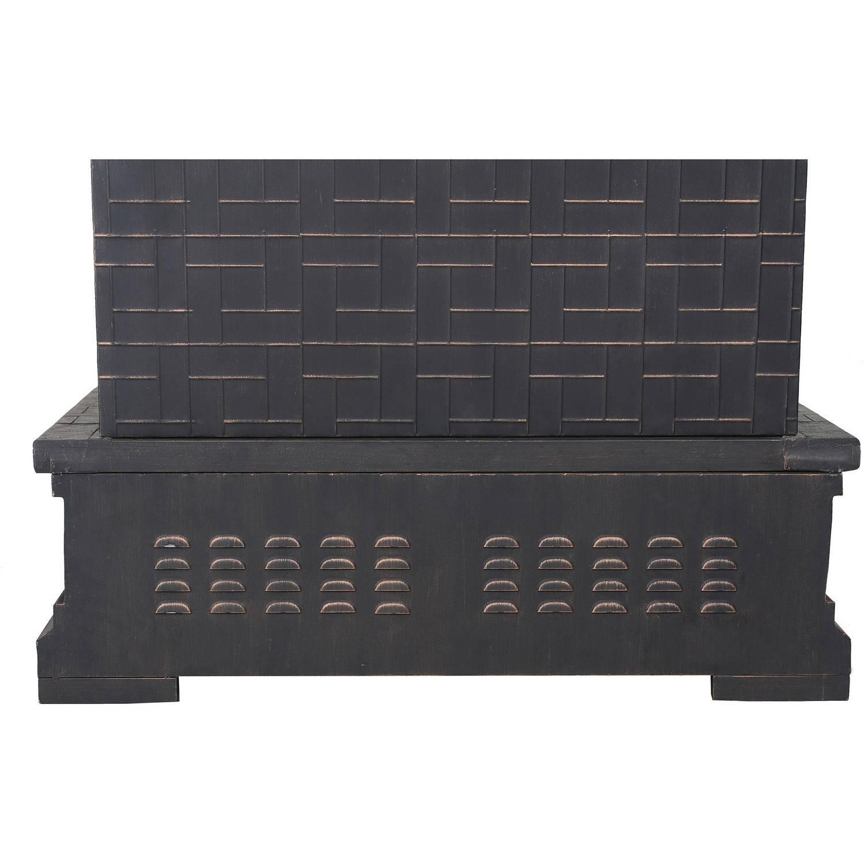 Sunjoy 110504012 Hardy 58 Slate And Steel Outdoor Fireplace Walmart Com