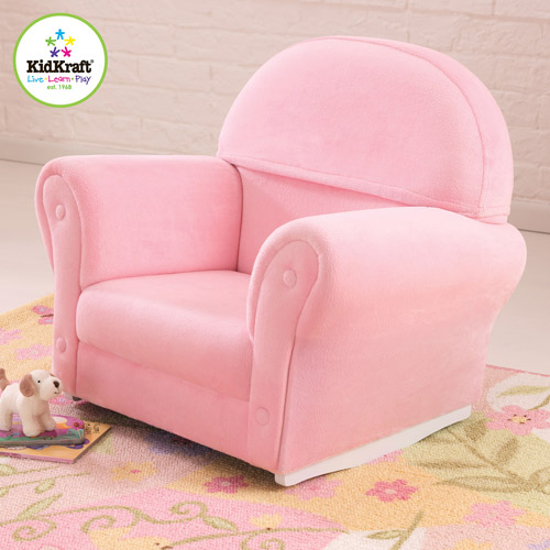 KidKraft Upholstered Rocker with Slip Cover, Pink