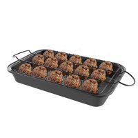 Meatball Pan-2-In-1 Roaster with Removable Wire Rack Insert to Drain Fat and Grease-Nonstick Baking Tray for Healthier Cooking by Classic Cuisine