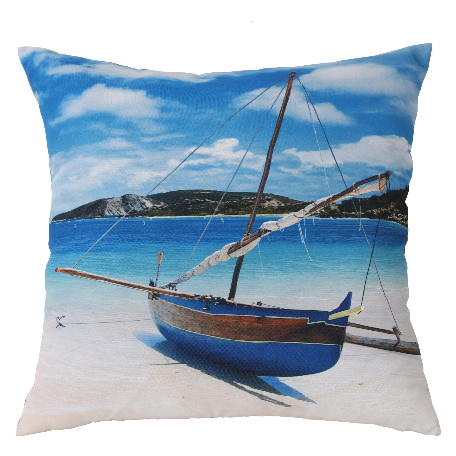 Habitat Sailboat Outdoor Throw Pillow