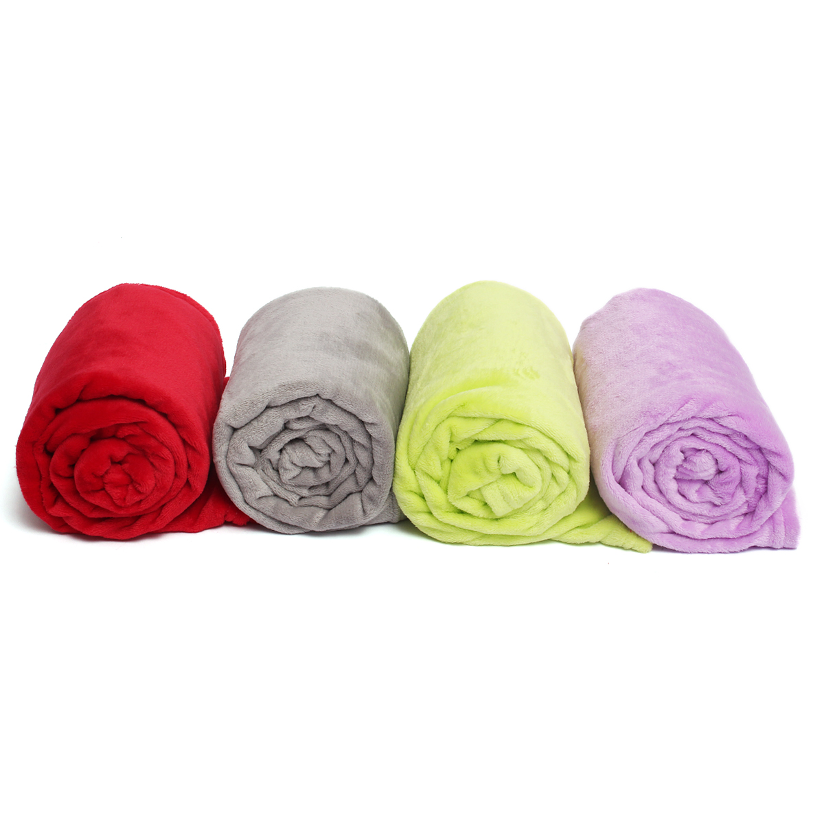 New Super Soft Luxurious Fleece Throw Blanket 3 Solid Colors Twin-size Warm