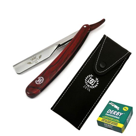 MARBLE SMART CUT THROAT BARBER STRAIGHT RAZOR 100 DERBY BLADES + FREE CASE