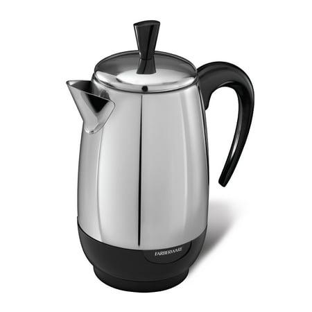 Farberware 8-Cup* Percolator, Stainless Steel, -
