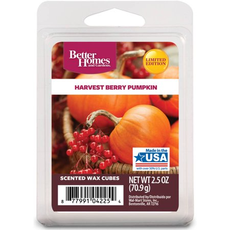 Better homes and gardens wax cubes harvest berry pumpkin - Better homes and gardens scented wax cubes ...