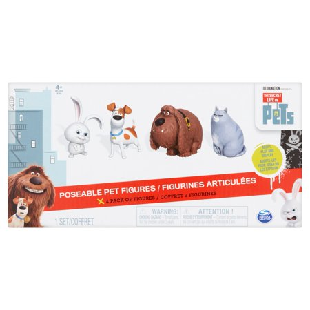- Spin Master The Secret Life of Pets Poseable Pet Figures 4+ Years, 1 set, 4 pack