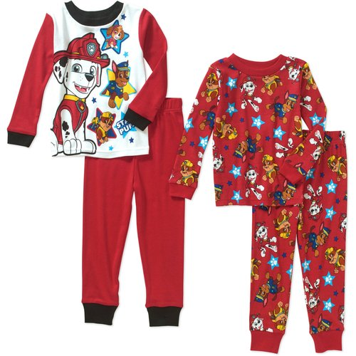 Paw Patrol Toddler Boy Cotton Tight Fit Pajamas 4pc Set