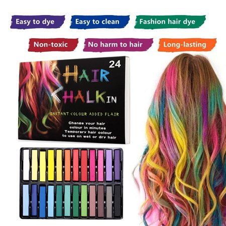 Hair Chalk Set Temporary Hair Color Safe Washable Hair Dye Fit For ...