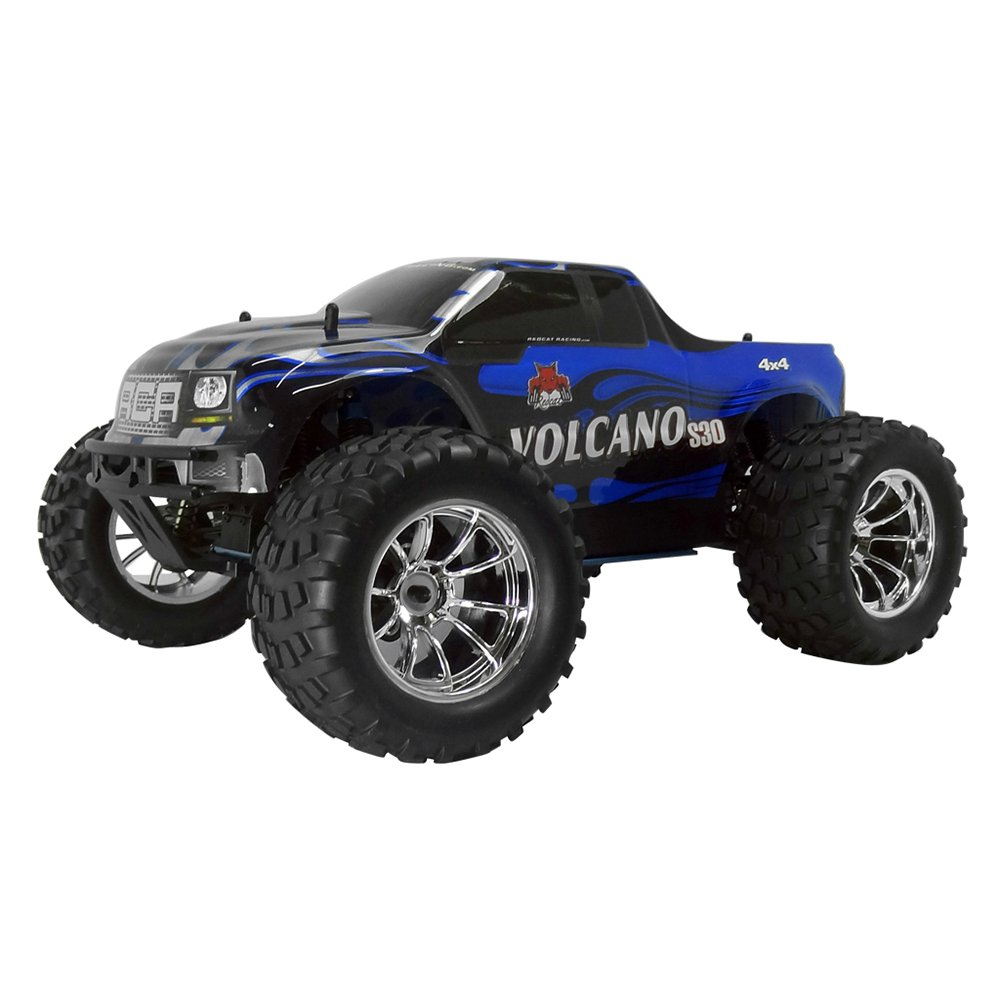 Redcat Racing Volcano S30 1:10 Scale 75cc Nitro Motor RC Monster Truck, Blue by Redcat Racing