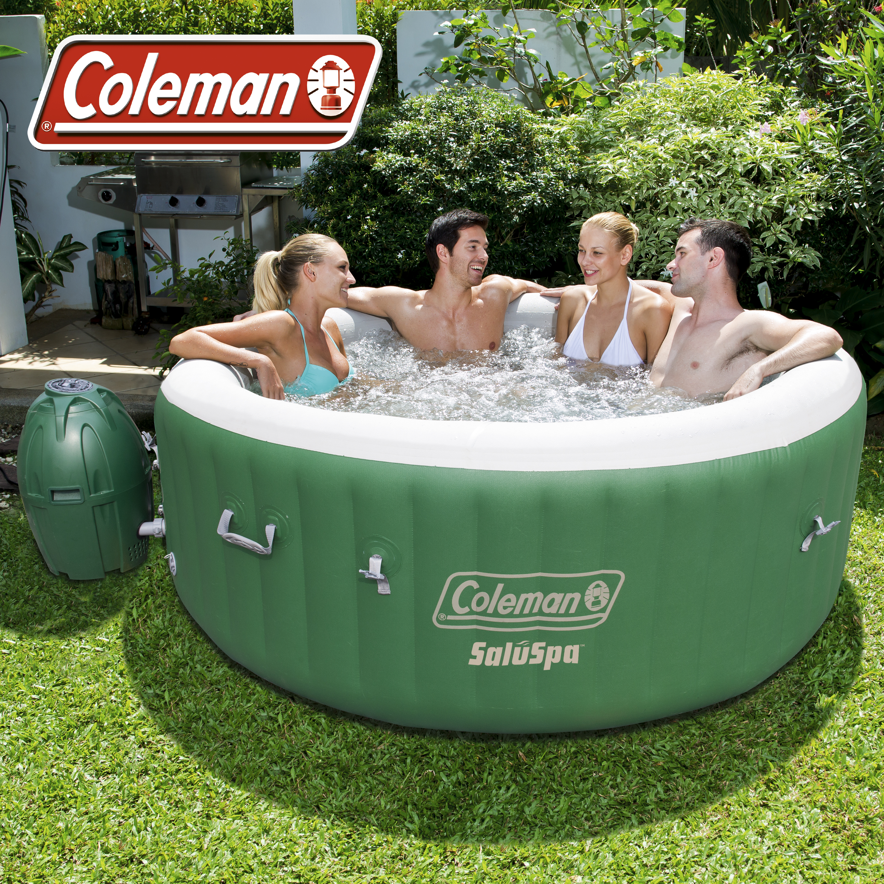 Coleman SaluSpa 4-6 Person Inflatable Portable Massage Hot Tub Spa