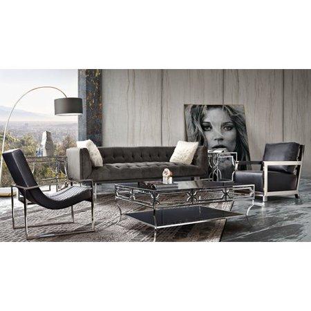 Diamond Sofa Hollywood Tufted Dusk Gray Velvet Sofa ()