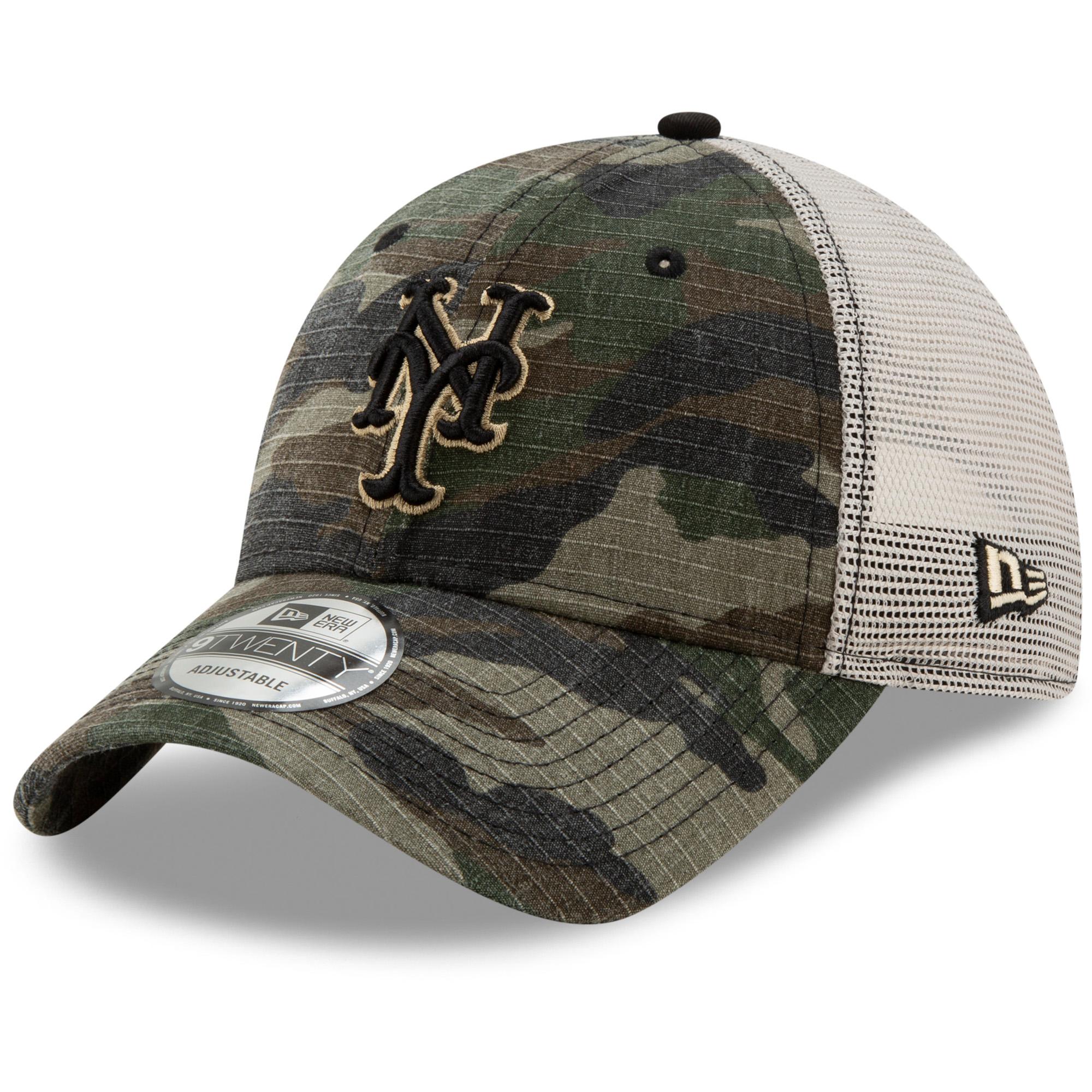New York Mets New Era Tonal Trucker 9TWENTY Adjustable Snapback Hat - Camo - OSFA