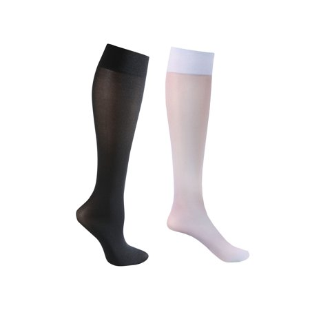 2 Pair Mild Support Knee High Stockings - 8-15 mmHg Compression