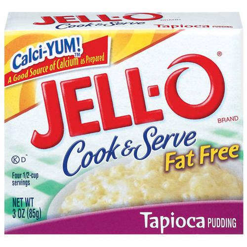 Jell-O Fat Free Tapioca Cook & Serve Pudding, 3 Oz