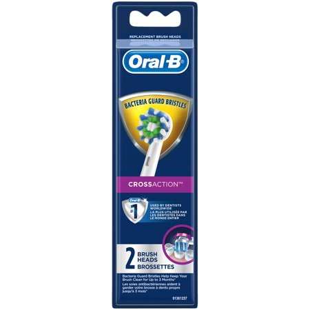 Triple Action Head - Oral-B CrossAction Replacement Brush Heads, 2 Count