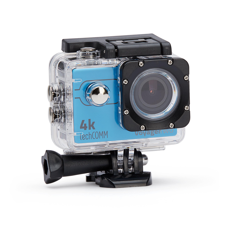 TechComm Voyager Two 4K 16MP Action Camera Sony CMOS Sensor Fish Eye