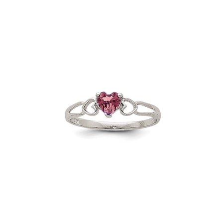 14k White Gold Rhodolite Red Garnet Birthstone Band Ring Size 6.00 Stone June Style Fine Jewelry For Women Gift Set (14k Rhodalite Garnet Ring)