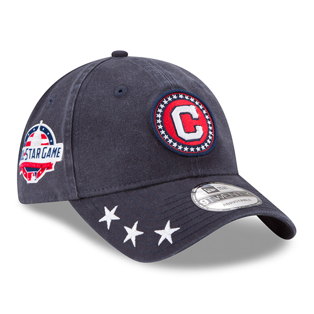 Cleveland Indians New Era 2018 MLB All-Star Workout 9TWENTY Adjustable Hat - Navy - OSFA