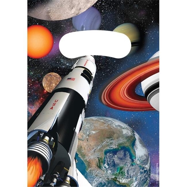Hoffmaster Group 085533 Outer Space Party Loot Bags - 8 per Case - Case of 12