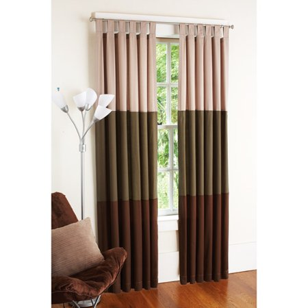 your zone chino bedroom curtains hot chocolate stripe
