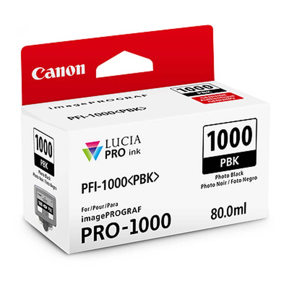 Canon PFI-1000 PBK LUCIA PRO Photo Black Ink Tank (80ml)