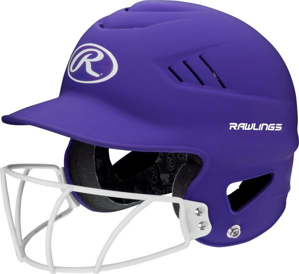 Rawllings Coolflo Highlighter Series Matte Style Softball Batting Helmet