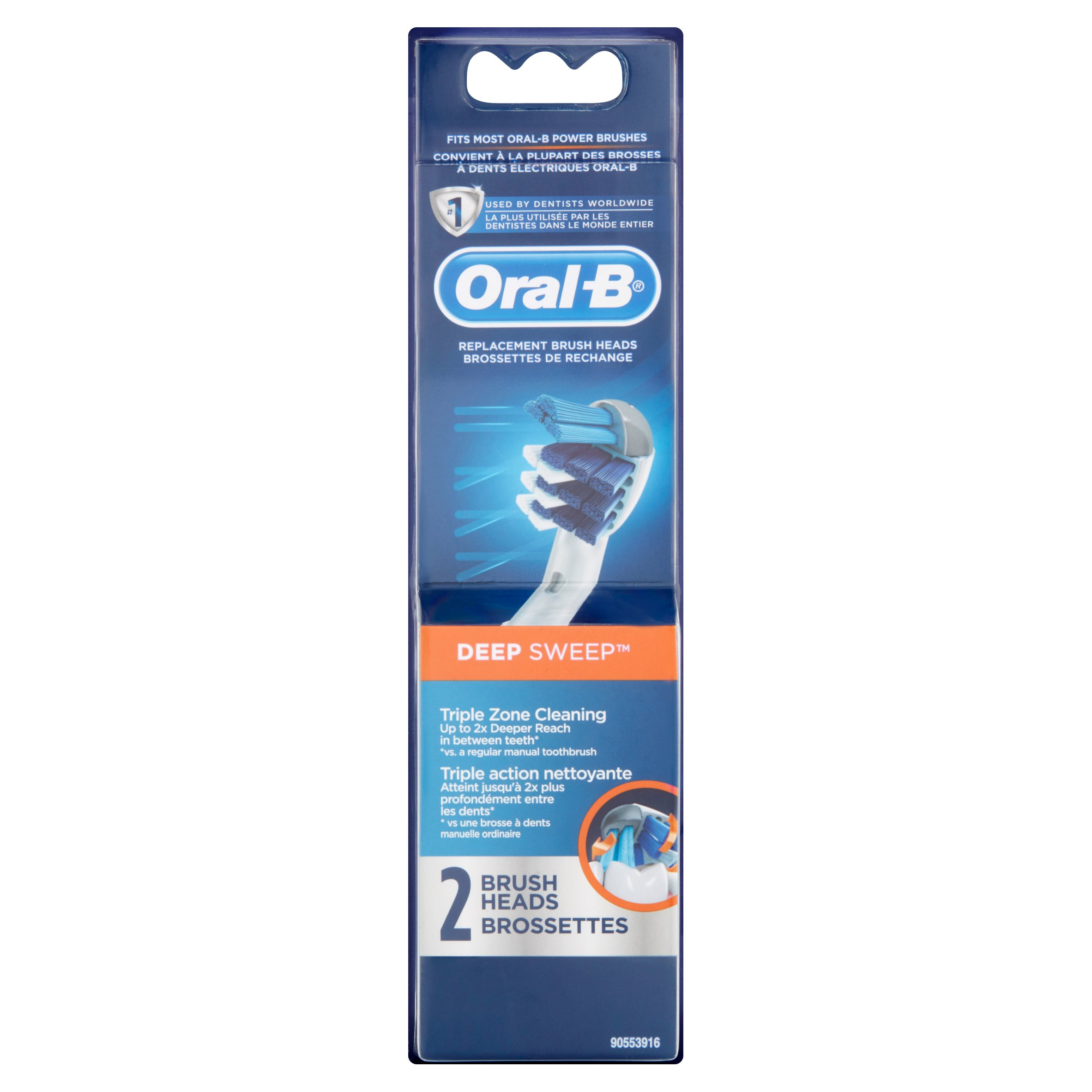 Oral-B Deep Sweep Replacement Toothbrush Heads, 2 count