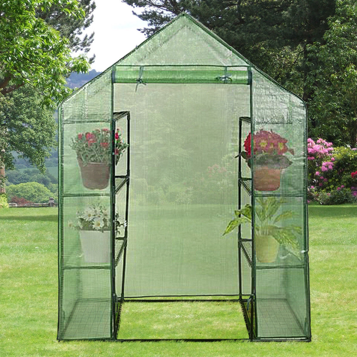 Portable Mini Walk In Outdoor 4 Tier 8 Shelves Greenhouse - image 5 of 9