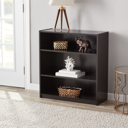 "Mainstays 31"" 3-Shelf Standard Bookcase, Espresso"