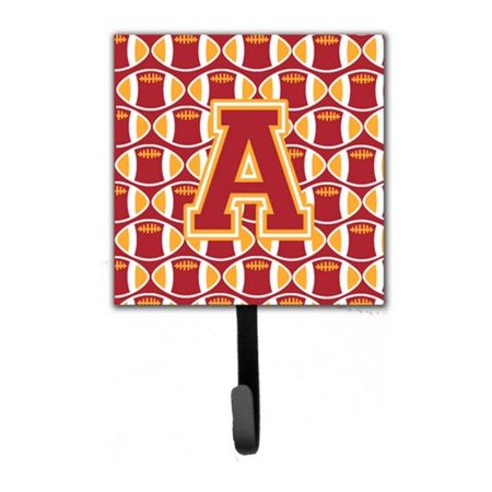 Letter A Football Cardinal and Gold Leash or Key Holder CJ1070 ASH4