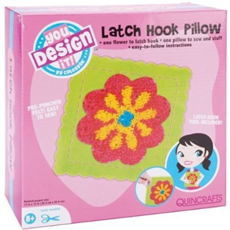 Colorbok Latch Hook Pillow Kit - Flower Design
