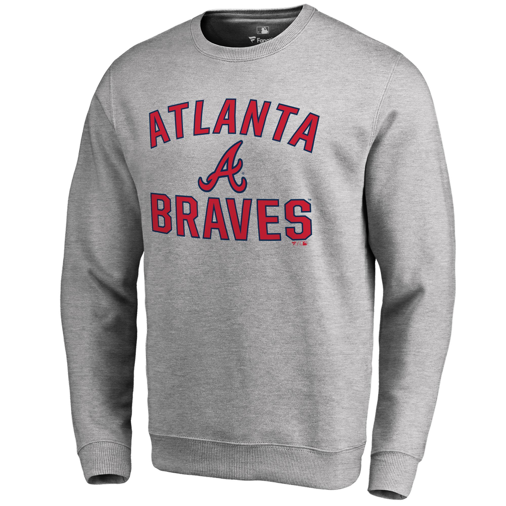 Atlanta Braves Victory Arch Pullover Sweatshirt - Ash