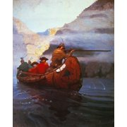 Last Of The Mohicans, 1919. /Nillustration By N.C. Wyeth From The 1919 Edition Of 'The Last Of The Mohicans' By James Fenimore Cooper. Poster Print by Granger Collection