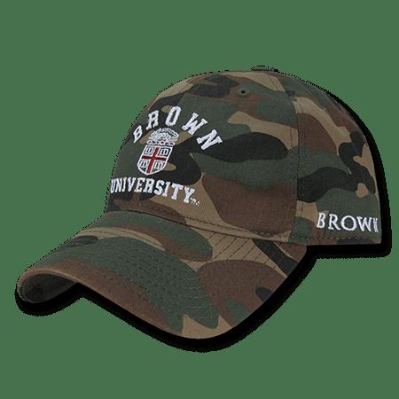 NCAA Brown Bears University 6 Panel Relaxed Camo Camouflage  Baseball Caps Hats