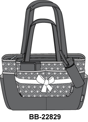 Baby Boom 5 pc Tote Diaper Bag Set by Baby Boom