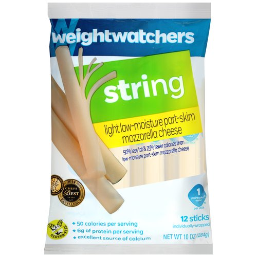 Weight Watchers Natural Light String Cheese, 10 oz, 12 ct