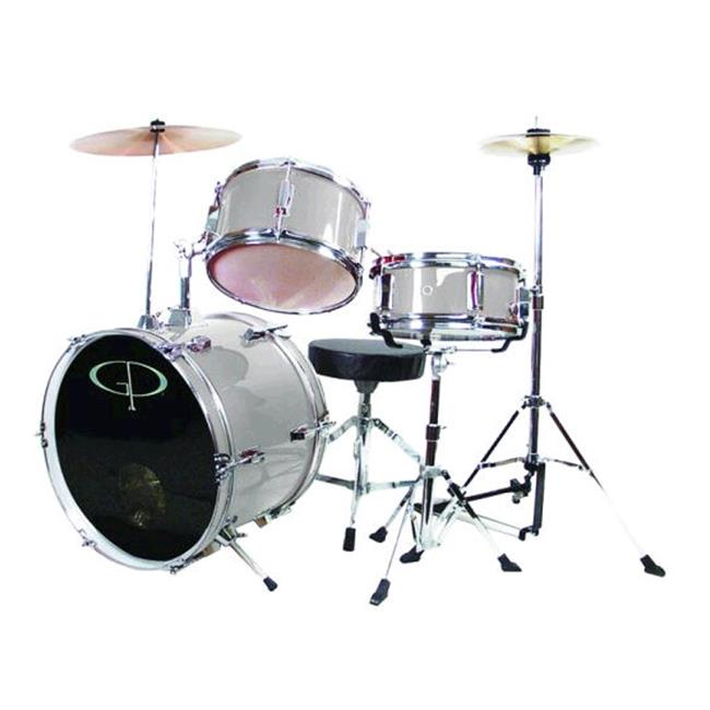 Gp 3 Pc Delux Jr Drumset Metallic Silver - GP50SV