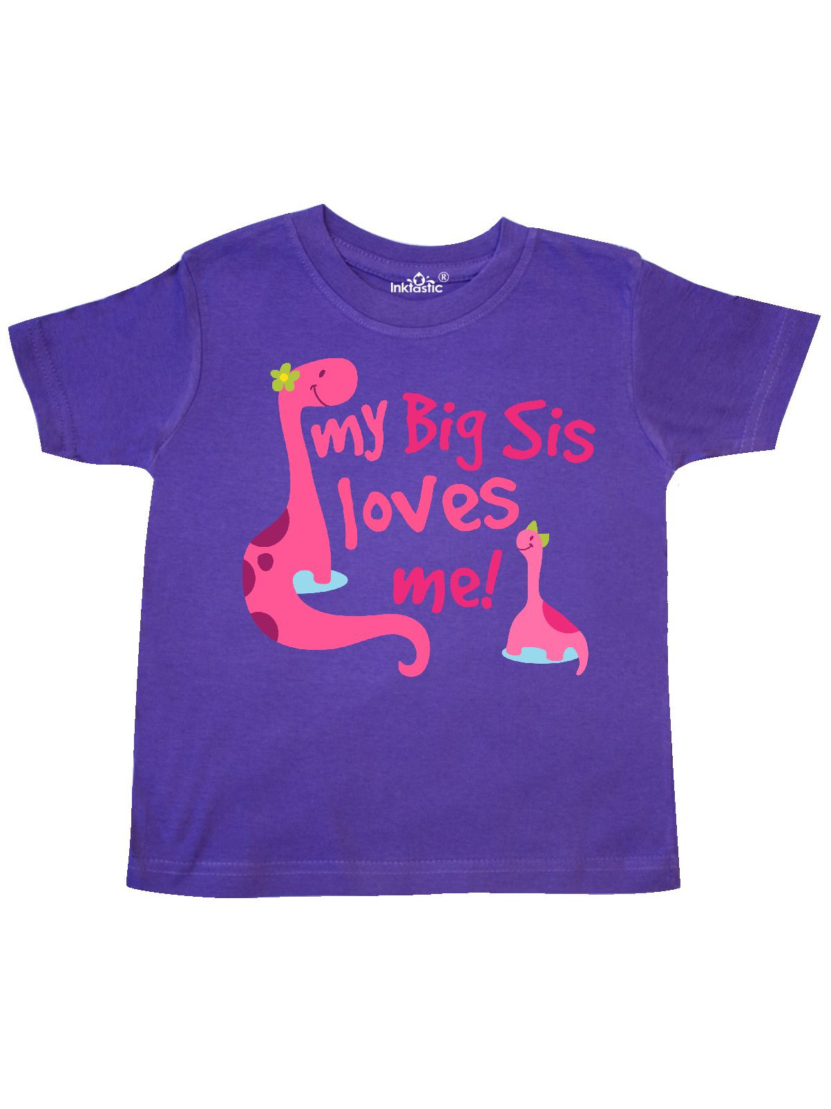 Cute Teacup Penguins Little Toddler T-Shirt inktastic My Big Sis Loves Me