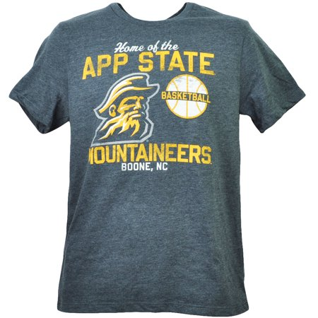 NCAA Appalachian State Mountaineers Boone NC Basketball Gray Tshirt Tee Mens XL - Halloween Stores In Jacksonville Nc