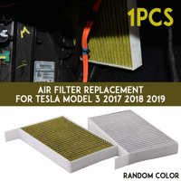Cabin Air Condition Filter For Tesla Model 3 Activated Carbon Replacement Tool , Green/Gray Random Color