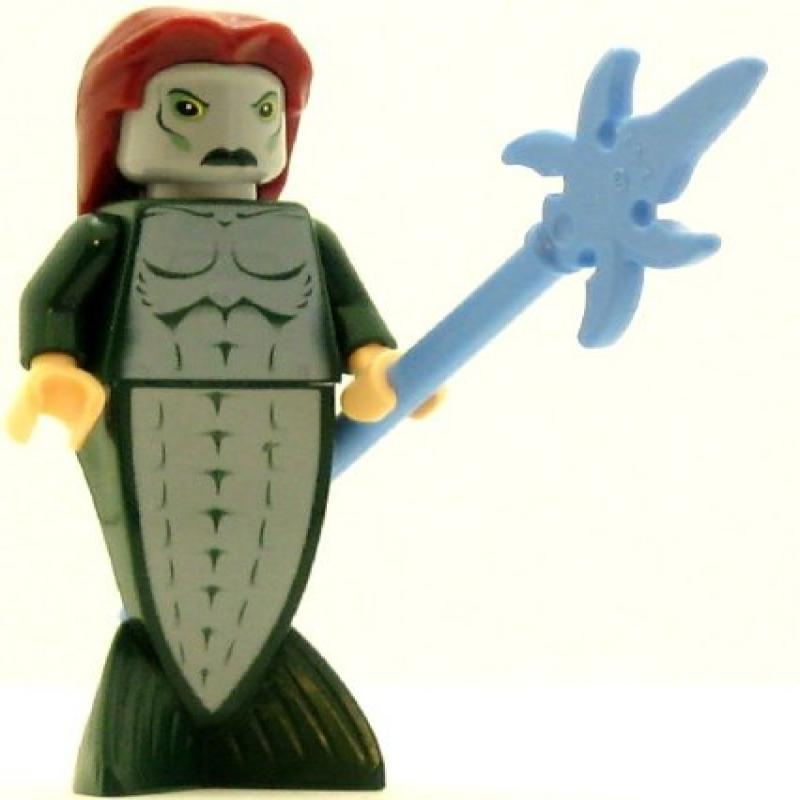 LEGO Harry Potter Minifig Merman Fish Tail Long Dark Red Hair