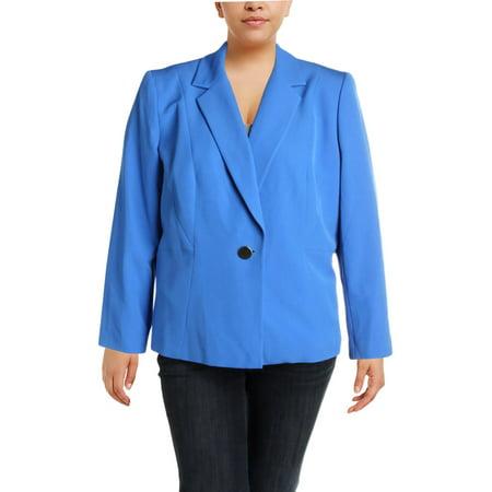 Kasper Womens Plus Crepe Suit Separate One-Button (Crepe Blazer)