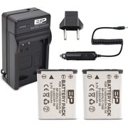 BP 2 Pack Replacement Nikon EN-EL10 Batteries and Charger for Nikon Coolpix S5100, S4000, S3000, S700, S600, S570, S520, S510, S500, S230, S220, S210, S200, S60 Digital Camera