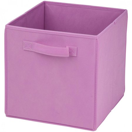 Honey Can Do Non Woven Foldable Storage Cube  Pink