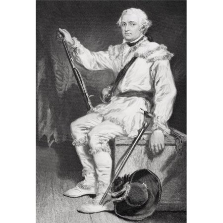 Daniel Morgan 1736-1802 Army Officer In American Revolution LED Militiamen To Suppress The Whiskey Rebellion From Painting by Alonzo Chappel Poster Print, 11 x 17 - image 1 de 1