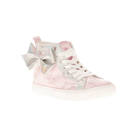 Jojo Siwa Girl's Crushed Velvet High Top Casual (Ray Ban Ja Jo Pink)