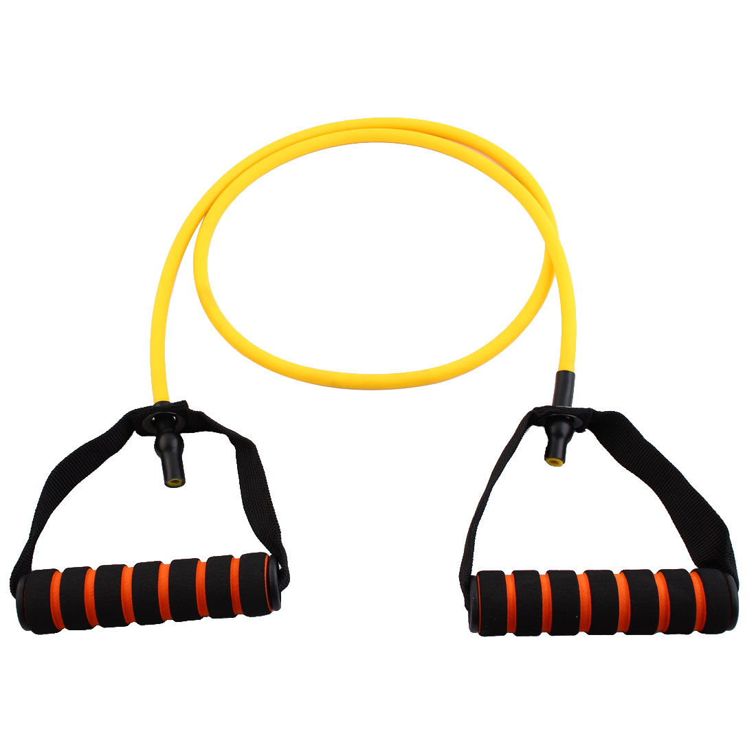 Door Anchor Stretchy Resistance Tube Strength Training Rope Workout Hose Yellow